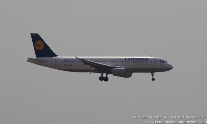Lufthansa Airbus A320 landing at Frankfurt - Image, Economy Class and Beyond