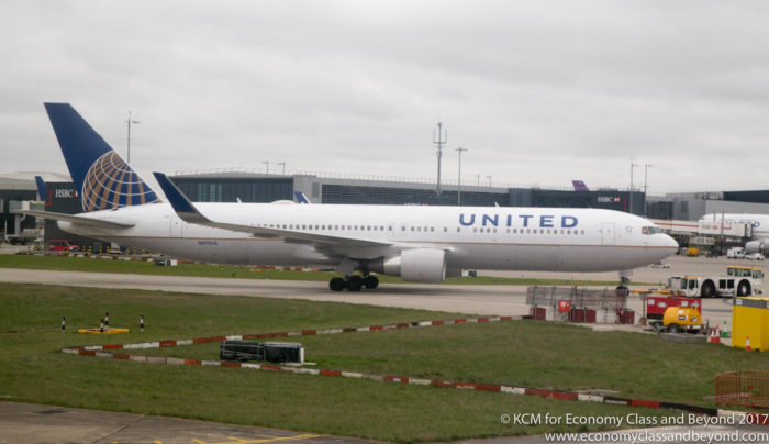 United Airlines Boeing 767-300ER at London Heathrow - Image, Economy Class and Beyond