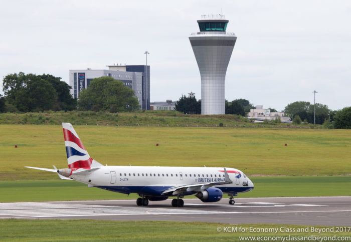 British Airways BA CityFlyer Embraer E-190 departing Birmingham Airport UK - Image, Economy Class and Beyond