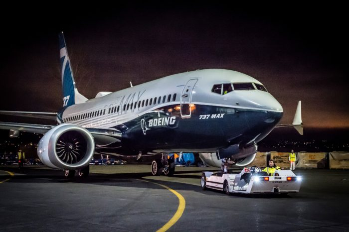 MAX-7 Paint Hangar Rollout for Employee Rollout Ceremony Boeing 737 MAX 7 - Image, The Boeing Company