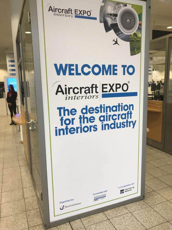 Aircraft Interiors Expo sign AIX