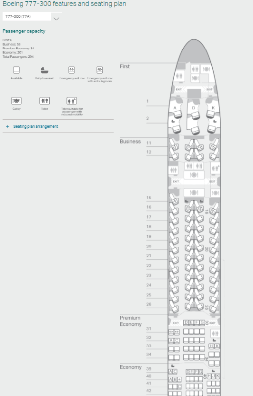 Seat Maps Are At Cathay S Site