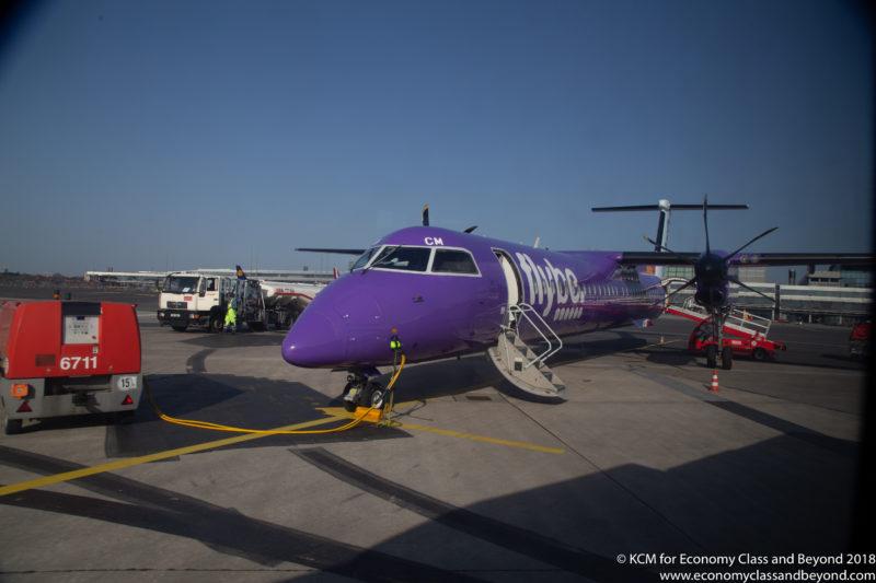 Flybe Dash8 Q400 at Hamburg Airport