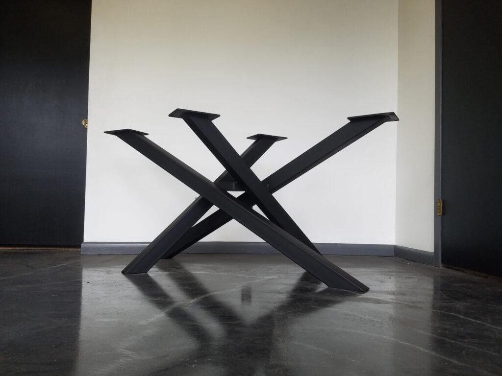 criss cross style metal table base econ welding