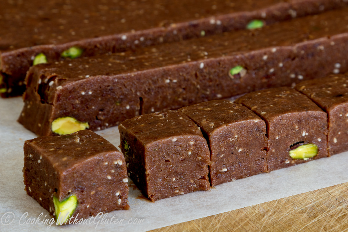 Chocolate Tahini and Dates Spread or Squares