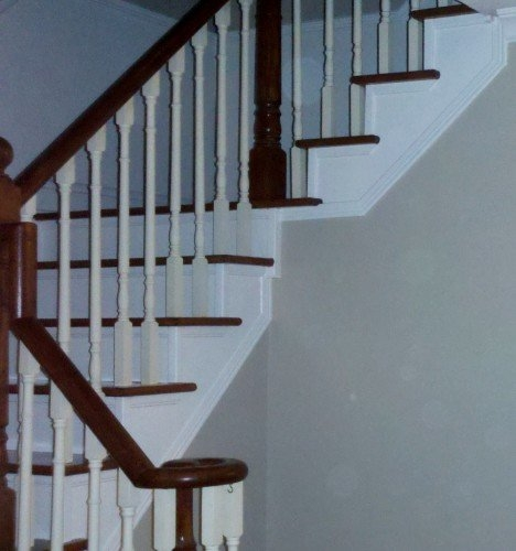 What Colour To Paint Stair Risers | Wood Steps With White Risers | Timber | Wood Stair | Before And After | Color | Stair Tread