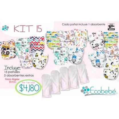 kit 15 ecobebé