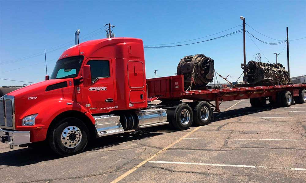 Heavy Haul Flat Bed Truck