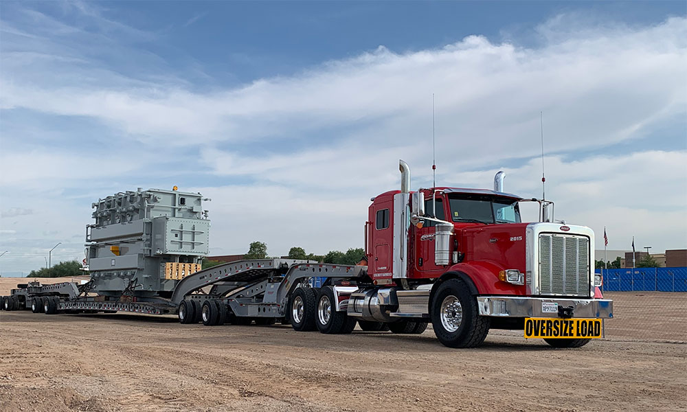 Oversize Load on Ecology Flatbed Truck