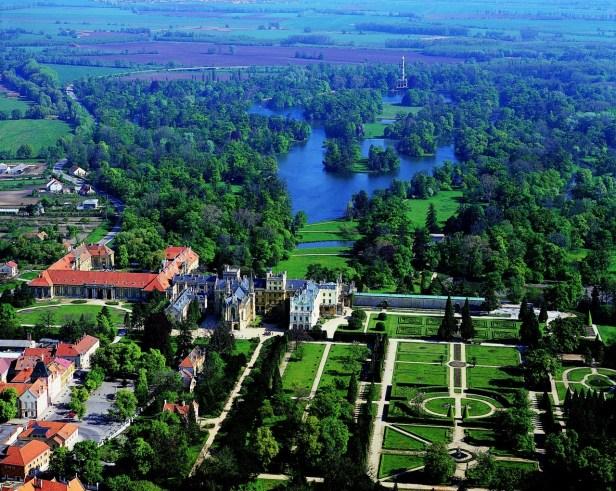 Les magnifiques jardins du château de Lednice