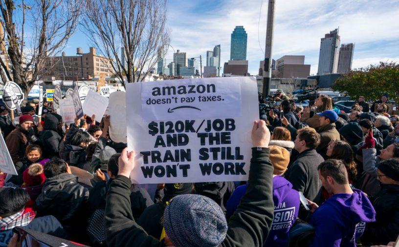 Protestation contre Amazon