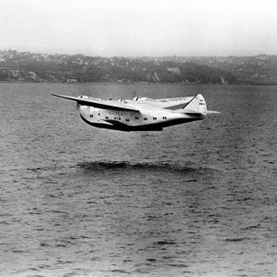 Boeing Atlantic-type Pan American Clipper rising from waters of Puget Sound on its maiden flight. (Photo by Time Life Pictures/Mansell/The LIFE Picture Collection via Getty Images/Getty Images)