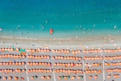 Positano Orange Umbrellas