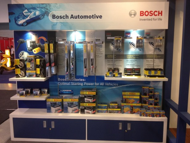 Cutting-edge automotive parts manufactured by Bosch showcased at the Franchise Asia Expo 2012, SMX Convention Center