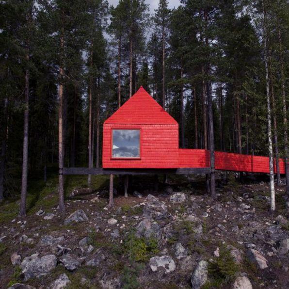 Swedish Treehotel-blue_cone_exterior_3