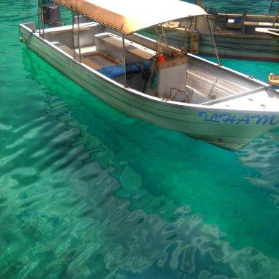 Malaysia Tioman Island boat clear water