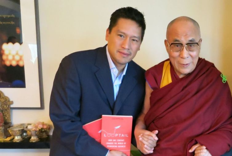 Bruce Poon Tip with the Dalai Lama