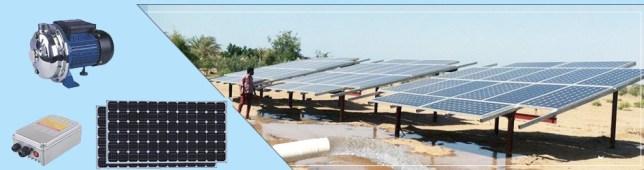 Pompen op zonne-energie