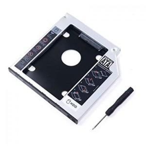 Adaptador Bahia Disco Duro 9,5mm para unidad óptica SSD HDD