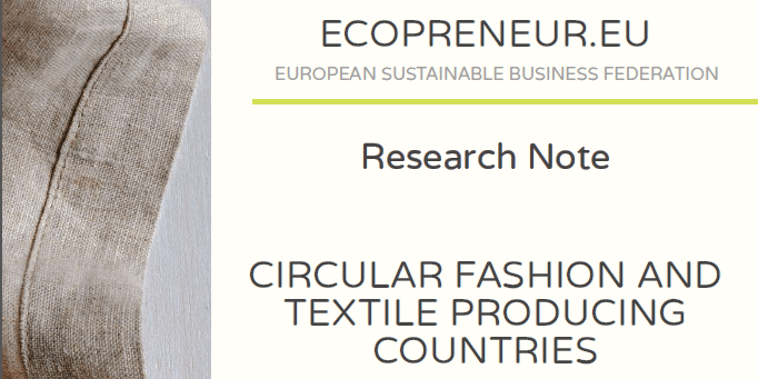 Ecopreneur.eu Research Note: Circular Fashion And Textile Producing Countries