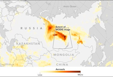 Map of Siberian fires