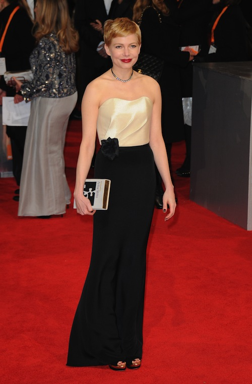 Oscars 2012 Red Carpet Michelle Williams In Louis Vuitton