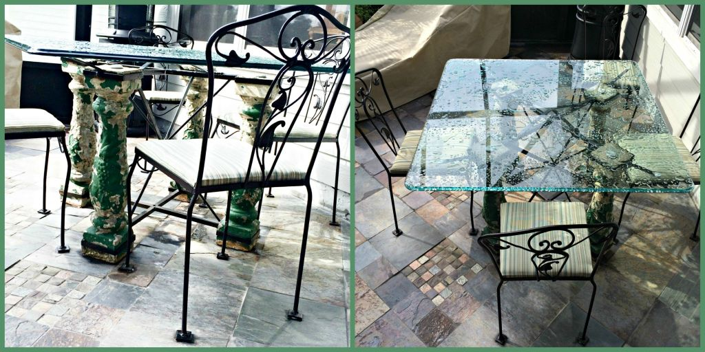 outdoor table and chairs collage