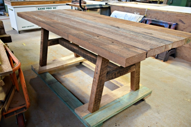 Reclaimed Pine Farm Table