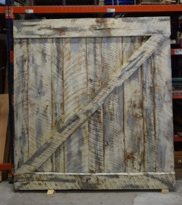 Full Rear View Custom Creation Barn Door | Visit our Wood Shop Today!