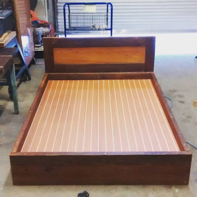 Twin Bed built in our Wood Shop by Billy Leeka
