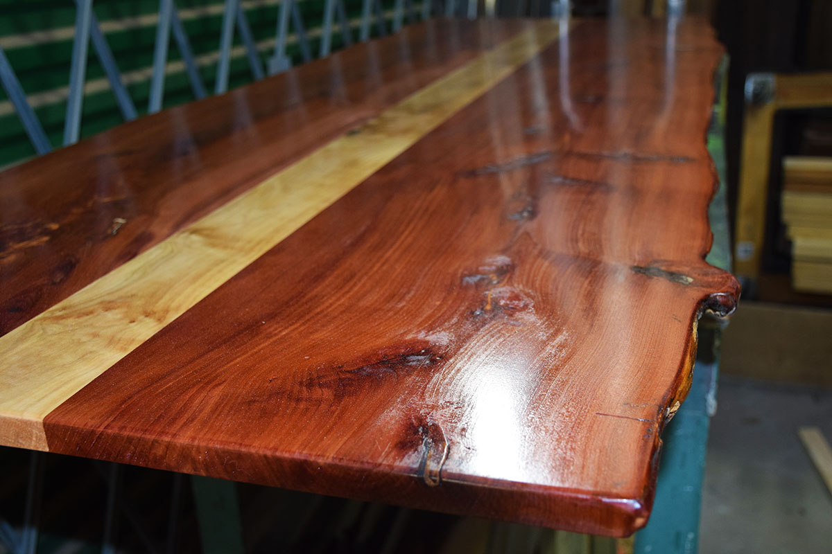 Beautiful Table Top After Top Coat, Ready To Attach Legs.