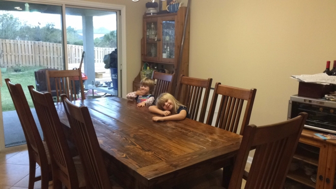 Farm Table from salvaged heart pine