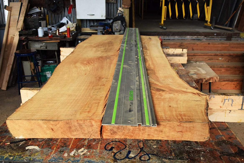 Custom Live Edge Sycamore And Walnut Table Top - Custom cut wood table top