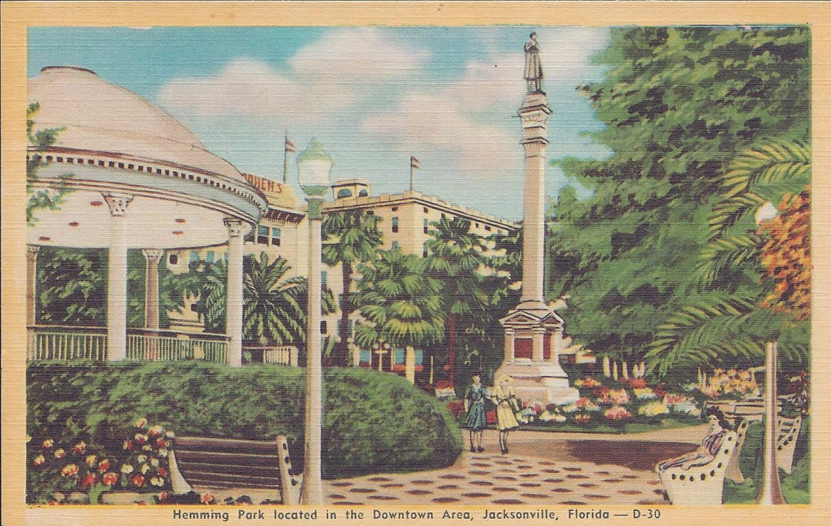 Postcard Hemming Park not Postdated