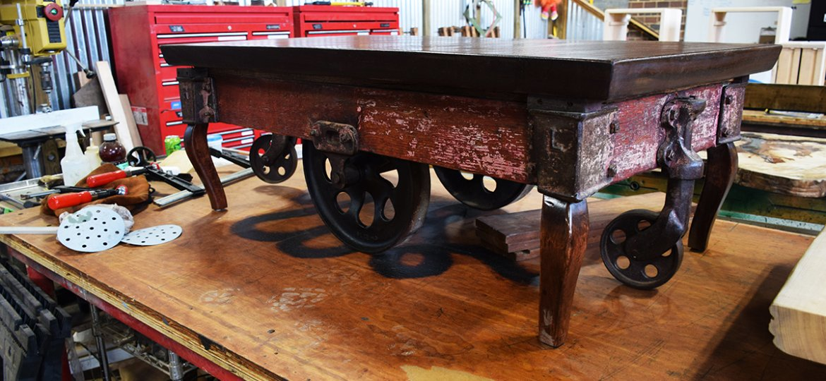 This beautifully restored Lineberry cart is nearly finished.