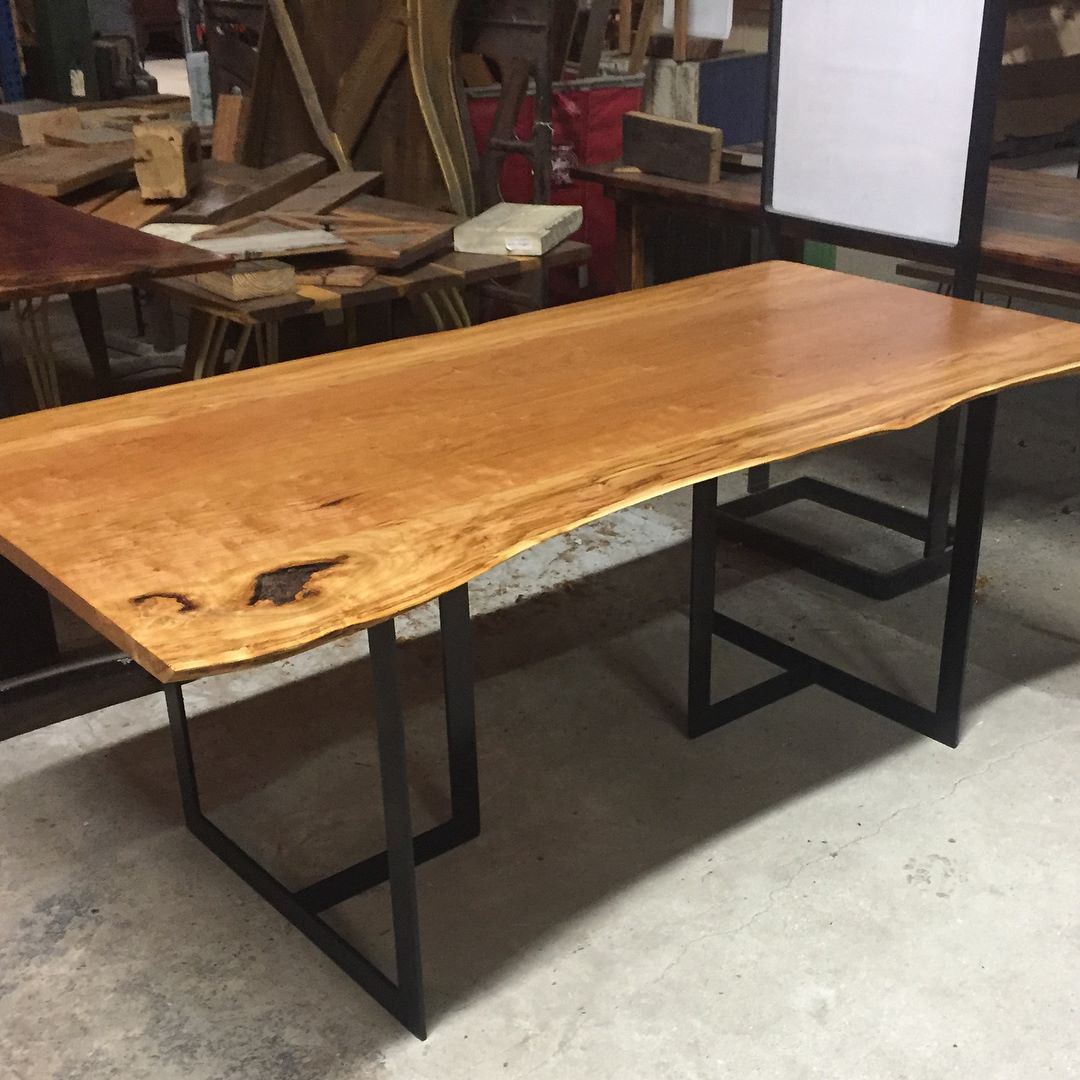 Cherry Slabs Make For A Perfect Medium To Craft Live Edge Tables.