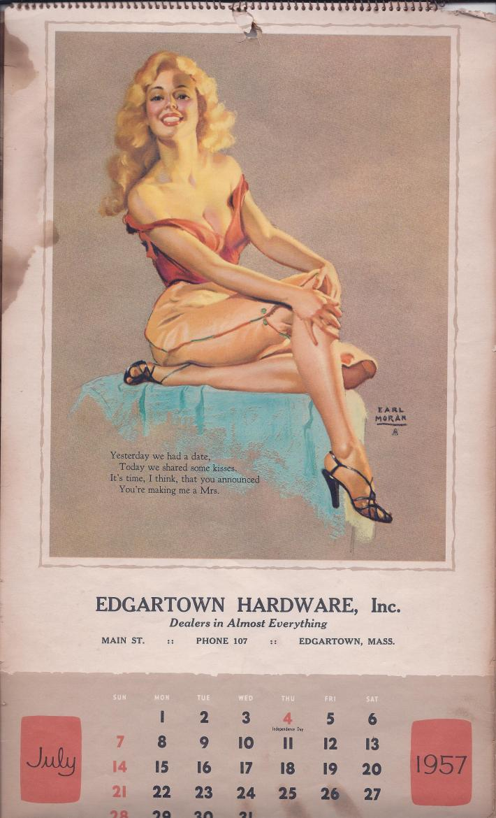 July 1957 Earl Moran pinup.