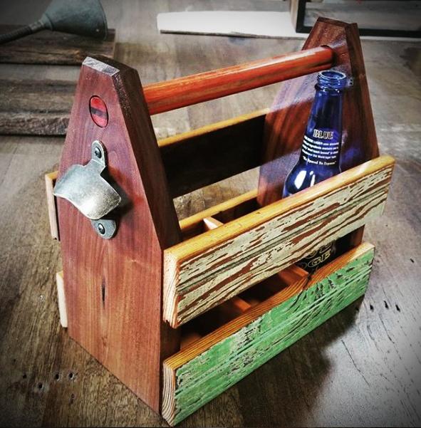 Easy DIY Custom Beverage Caddy just for Dad!