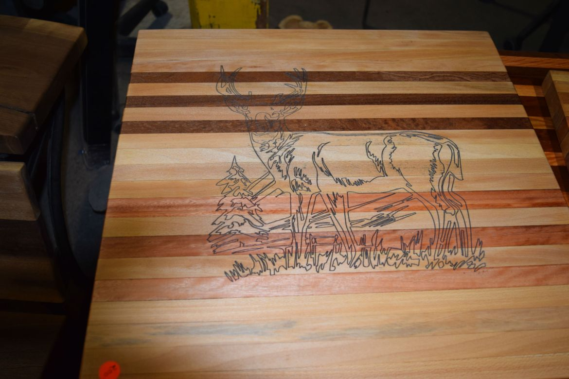 Our custom Etched Cutting Boards are a hit!