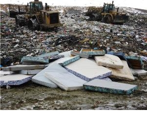 Mattresses in landfill
