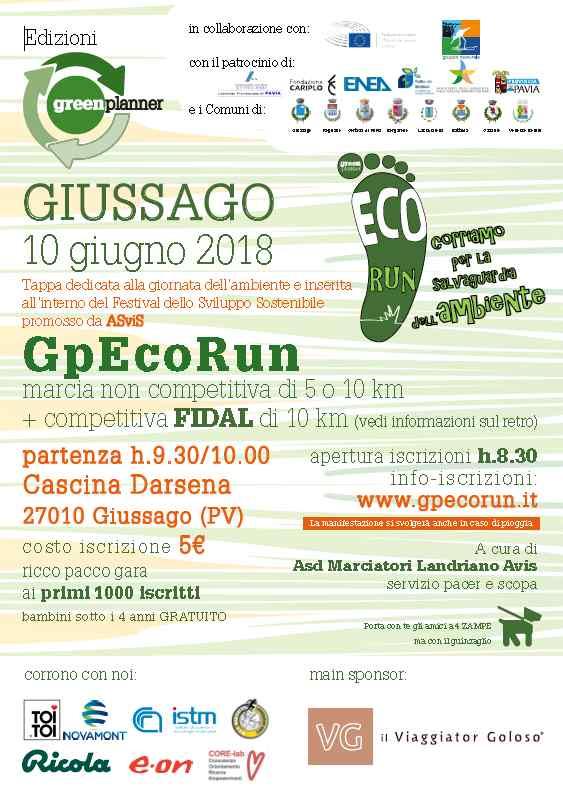 locandina Gp EcoRun di Giussago 2018