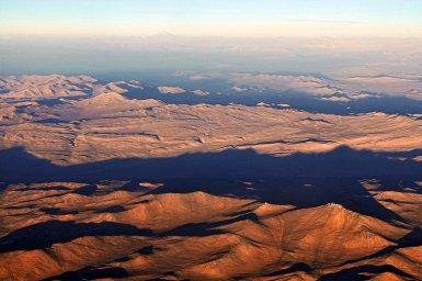 Aerial view of the Atacama Desert in Chile