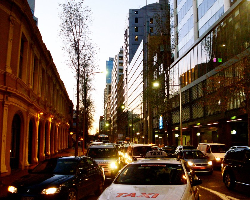 Pictured is traffic congestion in Sydney CBD.