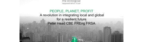 Lecture - People, Planet, Profit – A Revolution In Integrating Global And Local For A Resilient Future
