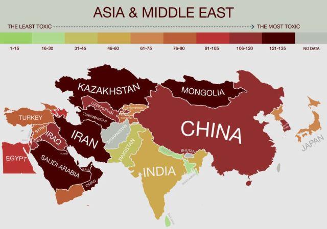 contaminacion en asia