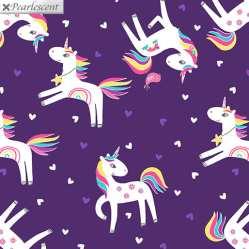 BEnartex - Unicornio morado - patchwork