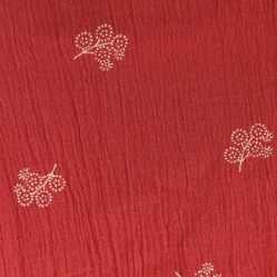 bambula print flowers red vestido niña