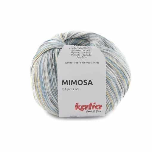 lana-hilo-mimosa-tejer-algodon-azul-amarillo-claro-primavera-verano-katia-302-fhd