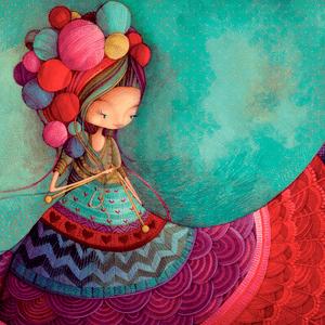 knitting en ECOS Ladybird