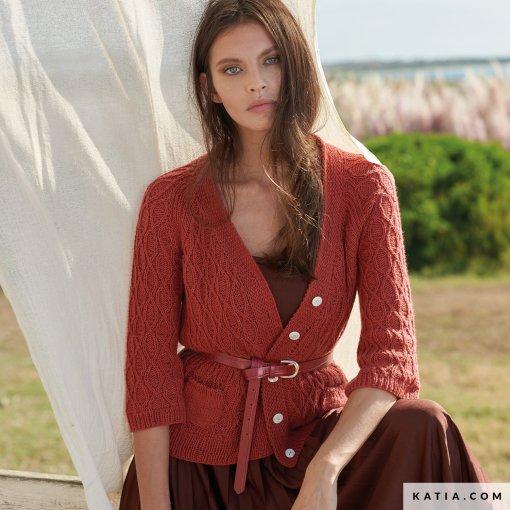 patron-tejer-punto-ganchillo-mujer-chaqueta-primavera-verano-katia-6254-21-g